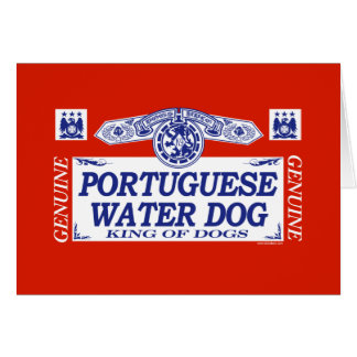 Portuguese Water Dog Card