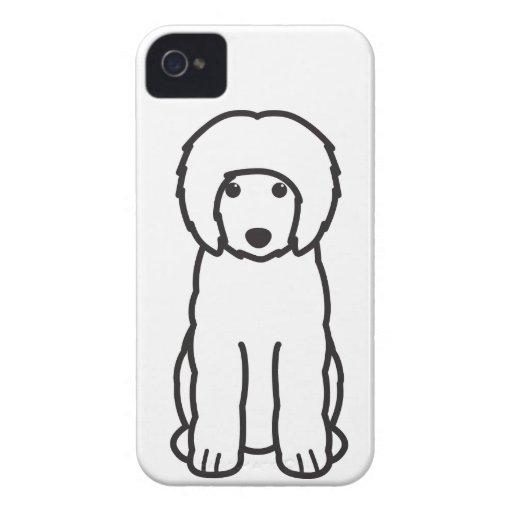 Portuguese Water Dog Cartoon iPhone 4 Case-Mate Case
