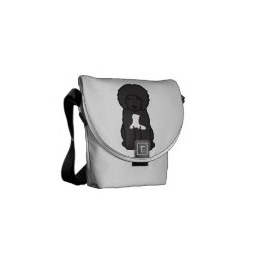 Portuguese Water Dog Cartoon Messenger Bag