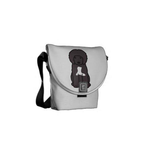 Portuguese Water Dog Cartoon Messenger Bags