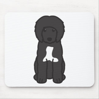 Portuguese Water Dog Cartoon Mouse Pads