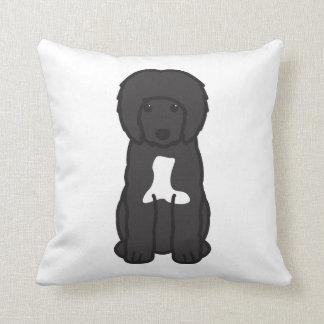 Portuguese Water Dog Cartoon Throw Pillows