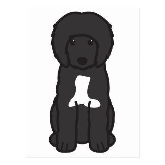 Portuguese Water Dog Cartoon Postcard