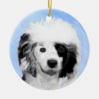 Portuguese Water Dog Ceramic Ornament