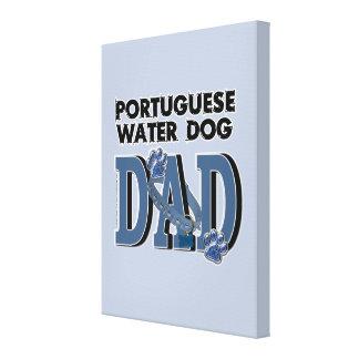 Portuguese Water Dog DAD Canvas Prints