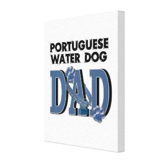 Portuguese Water Dog DAD Gallery Wrap Canvas