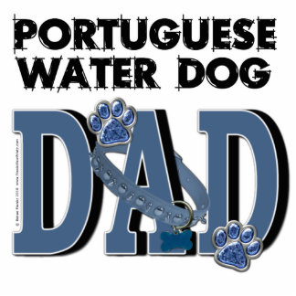 Portuguese Water Dog DAD Photo Cutouts