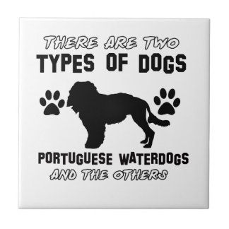 portuguese water Dog Designs Tile