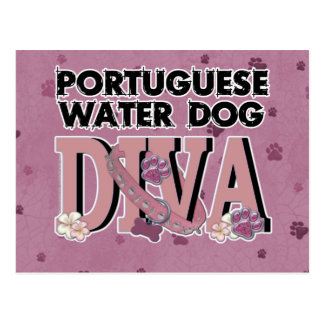 Portuguese Water Dog DIVA Postcard