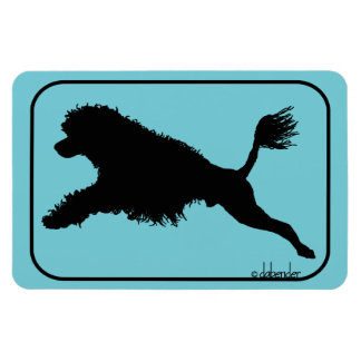 Portuguese Water Dog Diving Magnet