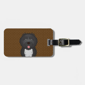 Portuguese Water Dog Dog Cartoon Paws Tags For Luggage
