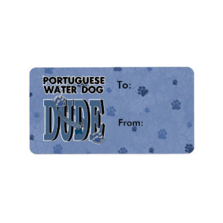 Portuguese Water Dog DUDE Label