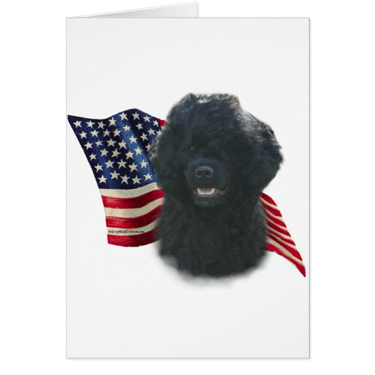 Portuguese Water Dog Flag Card