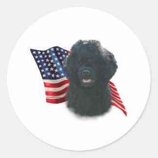 Portuguese Water Dog Flag Classic Round Sticker