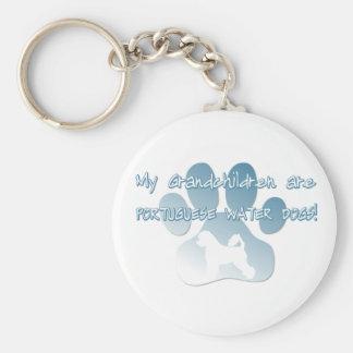 Portuguese Water Dog Grandchildren Key Chains