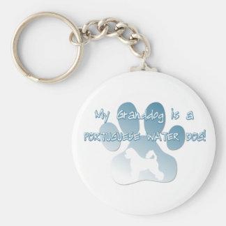 Portuguese Water Dog Granddog Keychain