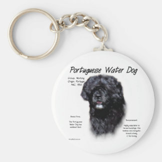 Portuguese Water Dog History Design Keychain