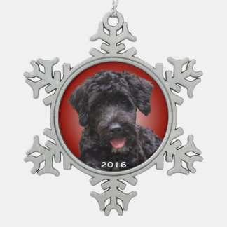Portuguese Water Dog Holiday Ornament