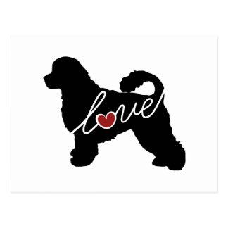 Portuguese Water Dog Love Postcard