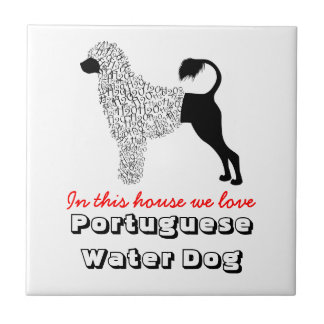 Portuguese Water Dog Love Tile