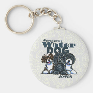 Portuguese Water Dog Lover Keychain