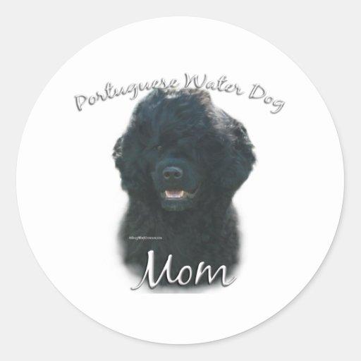 Portuguese Water Dog Mom 2 Classic Round Sticker
