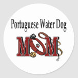 Portuguese Water Dog MOM Gifts Classic Round Sticker
