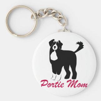 Portuguese Water Dog Mom Keychain