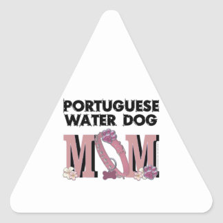 Portuguese Water Dog MOM Triangle Sticker