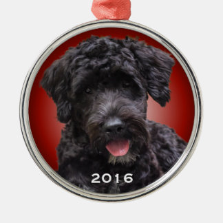 Portuguese Water Dog Ornament Red Radiant