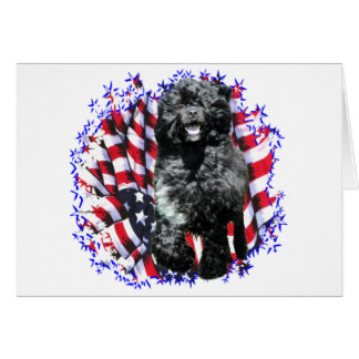 Portuguese Water Dog Patriot Card