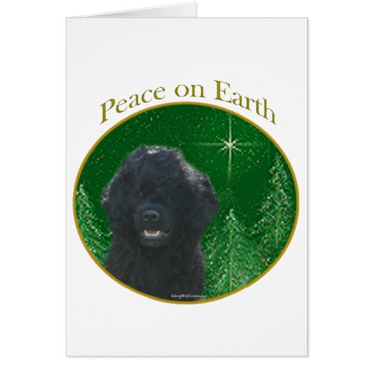 Portuguese Water Dog Peace Card