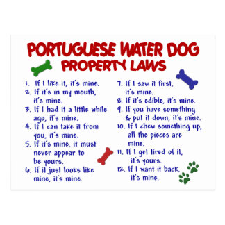 PORTUGUESE WATER DOG Property Laws 2 Postcard
