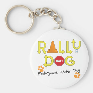 Portuguese Water Dog Rally Dog Key Chains