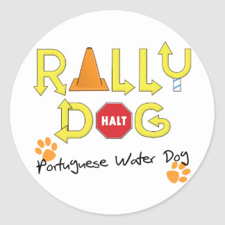 Portuguese Water Dog Rally Dog Stickers