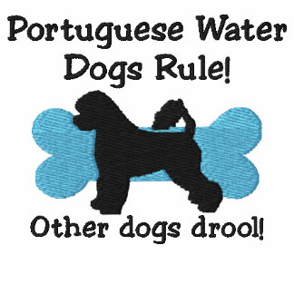 Portuguese Water Dog Rule Embroidered Zip Hoodie