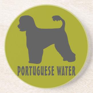 Portuguese Water Dog Sandstone Coaster