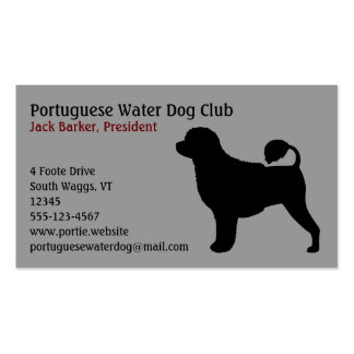 Portuguese Water Dog Silhouette Business Card
