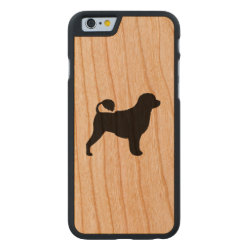 Carved ® iPhone 6 Bumper Wood Case with Portuguese Water Dog Phone Cases design