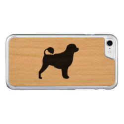 Carved Apple iPhone 7 Wood Case with Portuguese Water Dog Phone Cases design