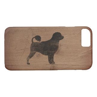 Portuguese Water Dog Silhouette Rustic iPhone 7 Case