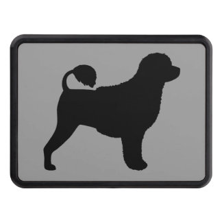 Portuguese Water Dog Silhouette Tow Hitch Cover