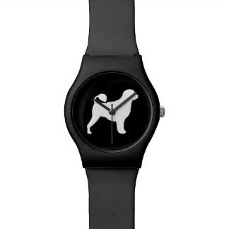 Portuguese Water Dog Silhouette Wrist Watch