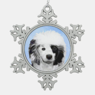 Portuguese Water Dog Snowflake Pewter Christmas Ornament