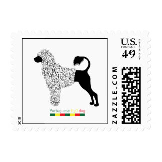 Portuguese Water Dog stamp