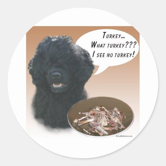 Portuguese Water Dog Turkey Classic Round Sticker