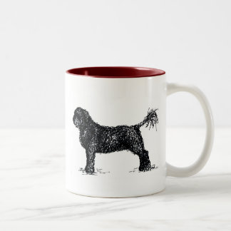 Portuguese Water Dog Two-Tone Coffee Mug