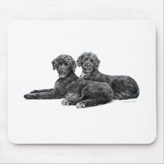 Portuguese Water Dogs Mouse Pad