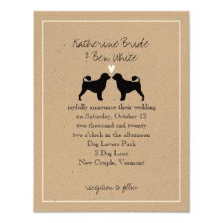 Portuguese Water Dogs Wedding Invitation