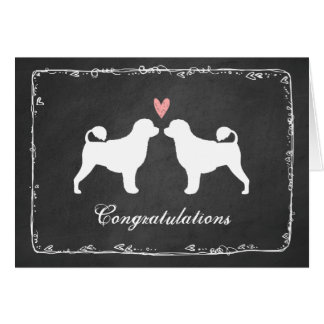 Portuguese Water Dogs Wedding Thank You Card